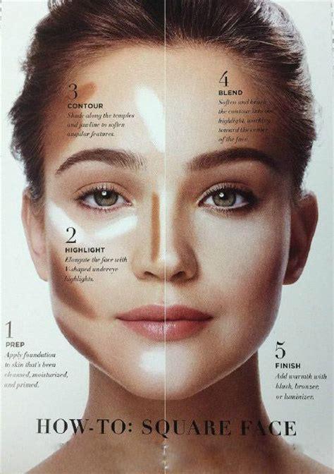 ideas  square face makeup  pinterest