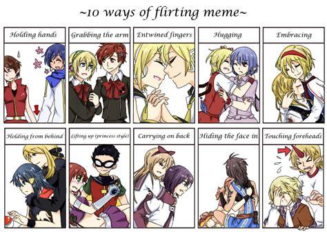 Flirtatious Memes - flirt meme by velger96 on deviantart