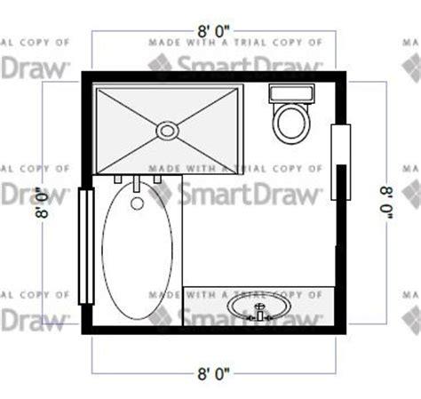 Bathroom Floor Plans 8x8 by Bathroom Layout Idea 8x8