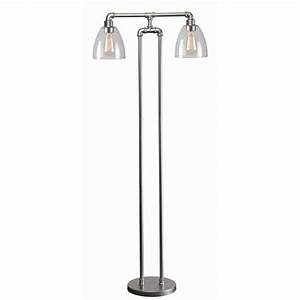 kenroy home steam fitter 55 in silver floor lamp 32632gm With silver ring floor lamp