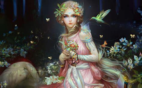 wallpaper fantasy girl beautiful fairy artwork