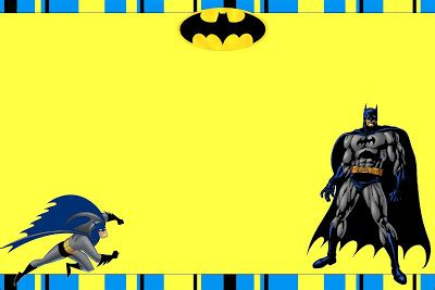 batman  printable invitations   fiesta  english