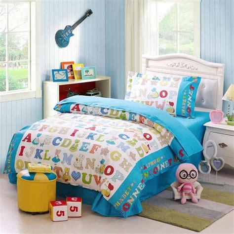 234 cotton toddler bedding bed sheets children alphabet cotton bedding set