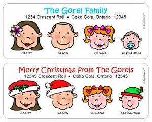 family of characters 150 multi character address labels With caricature address labels