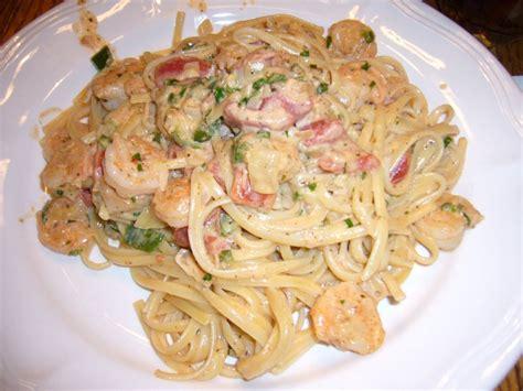 shrimp pasta recipes recipe shrimp and pasta in tomato chile cream sauce trouble with toast