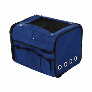 pawhut collapsible folding soft portable pet crate carrier With portable travel dog crate
