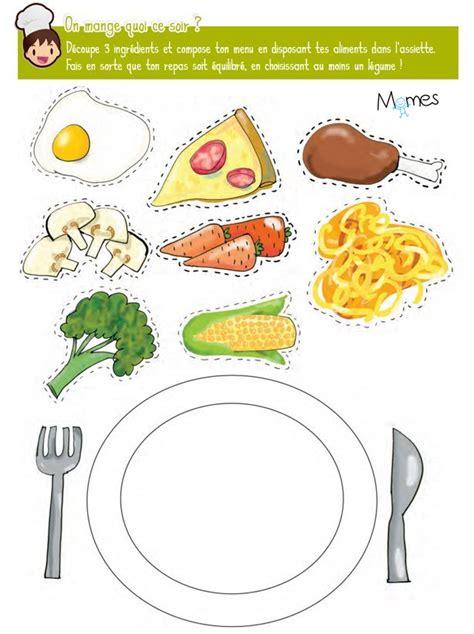 jeux pour faire de la cuisine jeu de l assiette 233 quilibr 233 e momes net