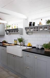 Deko Küche Landhausstil : ikea k che ich mag das grau und die fliesen strandhausk che pinterest k che k che ~ Frokenaadalensverden.com Haus und Dekorationen