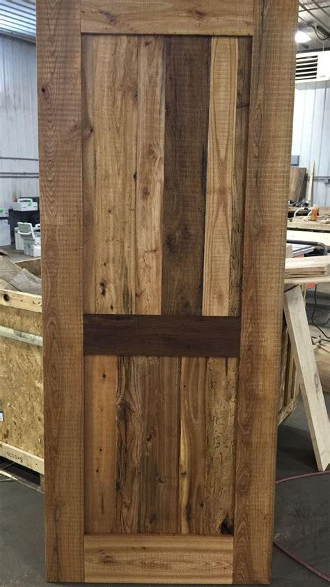 hand  reclaimed wood door  left   face