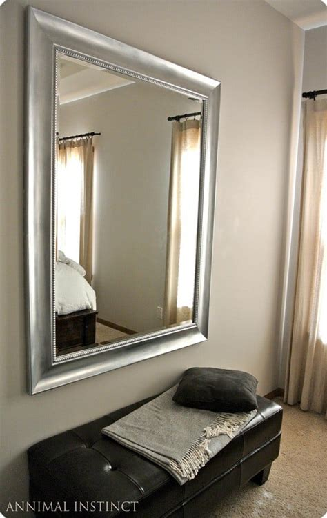 silver painted mirror