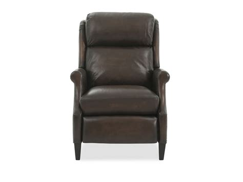 power motion leather  recliner  brown mathis