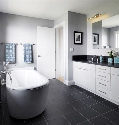 modern contemporary kitchen grey and chocolate brown bathroom interior 4190