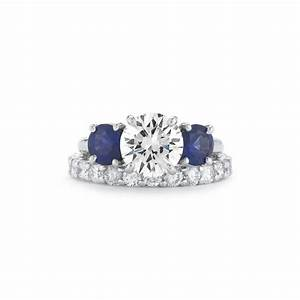 affordable designer sapphire diamond engagement wedding With diamond engagement ring with sapphire wedding band