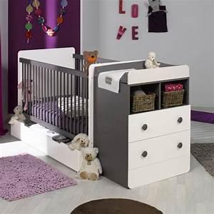 lit bebe evolutif avec tiroir blanc taupe 70x140 With chambre bébé design avec back2flow avis