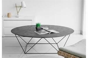 Béton Ciré Pas Cher : table basse avec plateau en imitation b ton cir copa ~ Premium-room.com Idées de Décoration