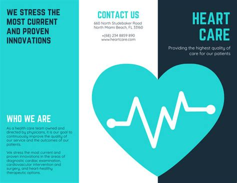 customize  medical trifold brochure templates