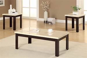 Modern white granite top coffee table with brown painted for White coffee table with brown top