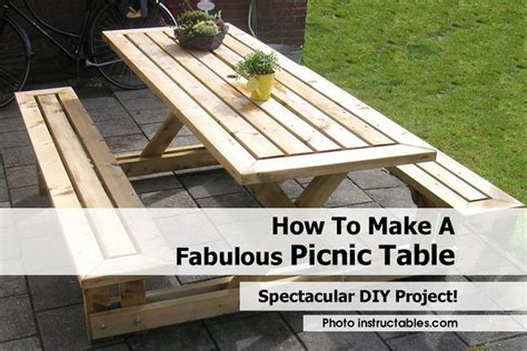 How To Make A Fabulous Picnic Table