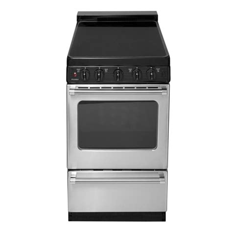 20 inch stove shop premier smooth surface freestanding 2 4 cu ft