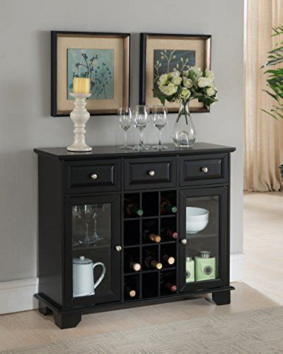 black wine cabinet brand furniture buffet server sideboard cabinet with
