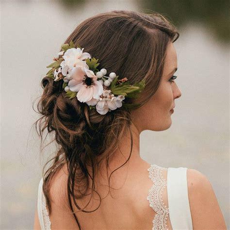 annabelle flower hair comb wedding bridesmaid hair