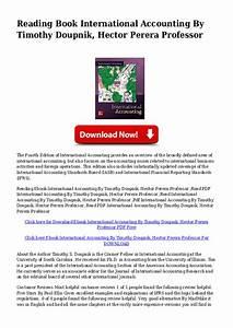International Accounting 4th Edition Doupnik Pdf