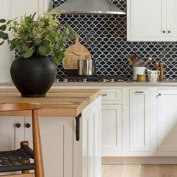 tile for kitchen backsplash pictures black fish scale tiles with white cabinets kitchen