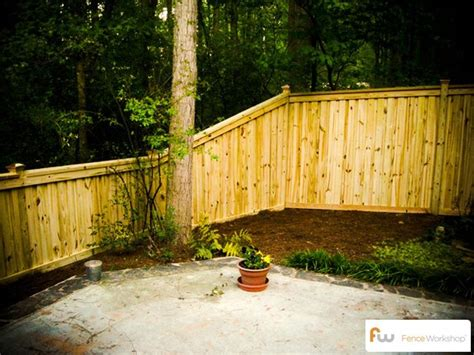 wood fence height fence height transition traditional privacy fences pinterest