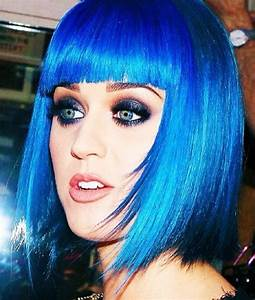 Cobalt Blue Hair Katy Perry Is Feeling Blue