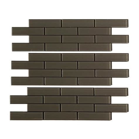 menards gray subway tile aspect 12 quot x 4 quot matted subway glass peel stick