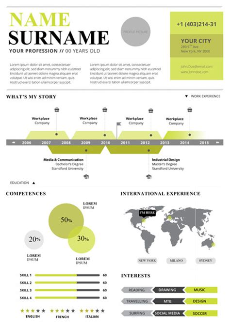 infographic resume html template top 5 infographic resume templates
