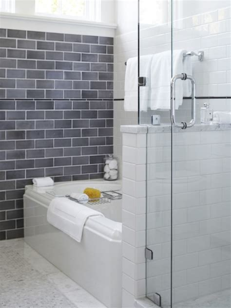subway tile for small bathroom remodeling gray subway tile