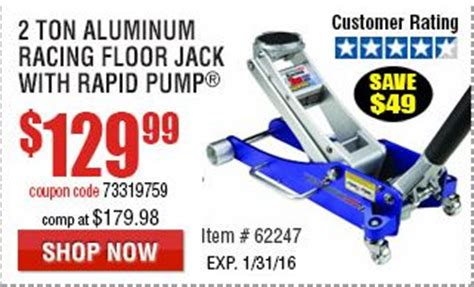 2 Ton Aluminum Racing Floor by Harbor Freight Coupon Harbor Wiring Diagram And
