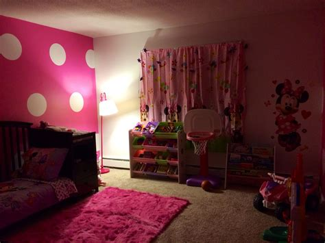 daughters minnie mouse inspired room minnie mouse