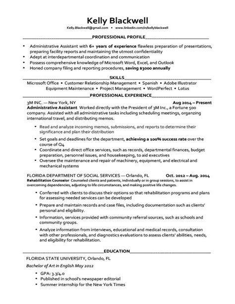 Resume Template by Career Level Situation Templates Resume Genius