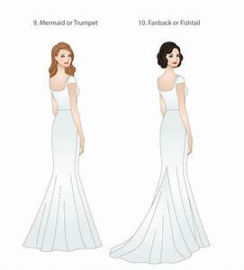 skirt types for modest wedding dresses modeled by With wedding dress train types