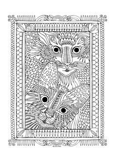 Y Tiger Cat Girl Coloring Pages For Adults Trend   Cat