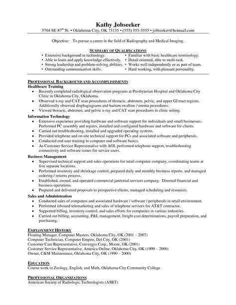 Technologist Resume by Radiologic Technologist Skills Resume Vvengelbert Nl