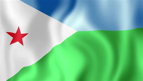 3d Animation Flag Of Djibouti Looping Stock Footage Video