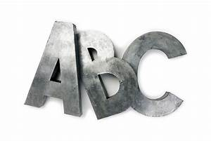 cococozy monogram style large living room letters With metal letter art