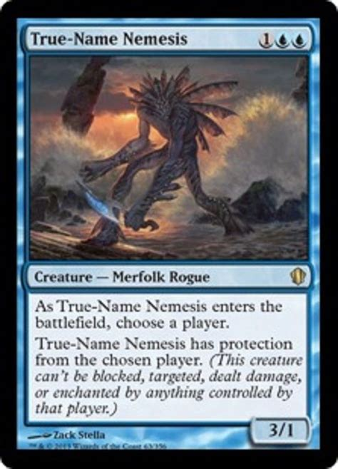 mtg merfolk deck standard true name nemesis blue merfolk rogue protection from