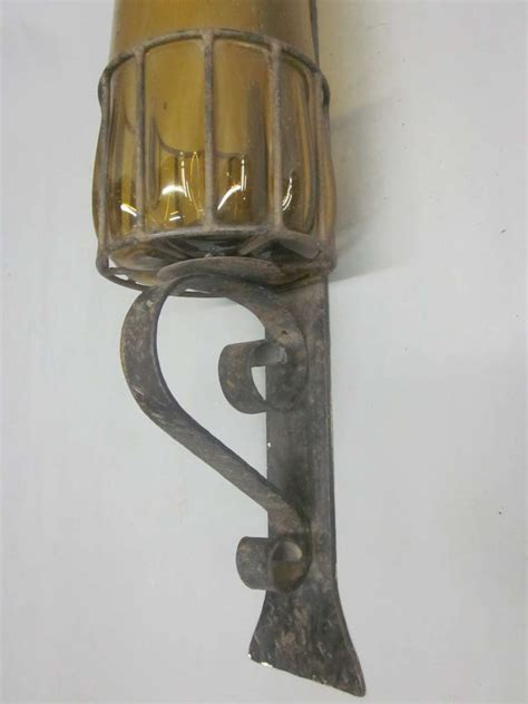 pair of mallorcan blown glass wall sconces for sale