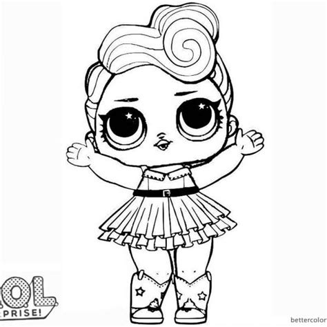 Mermaid LOL Surprise Doll Coloring Pages Merbaby (With