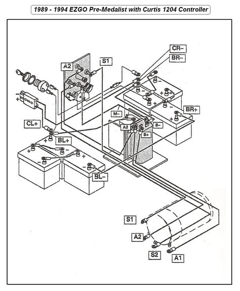 volt ez  st golf cart wiring diagram