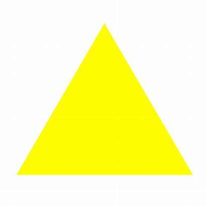 Triangle Yellow Symbol Equilateral Svg Fill Example