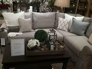 living room sofa pottery barn sectional pillows living With gray sectional sofa pottery barn
