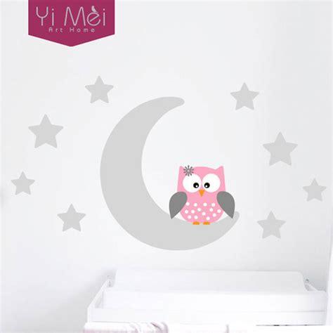 moon stars owl good night nursery wallpaper wall decal