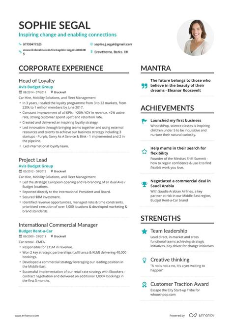 Of Resumes by Real Department Resume Exle Enhancv