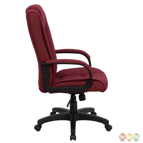 high back burgundy fabric executive office chair go 5301b