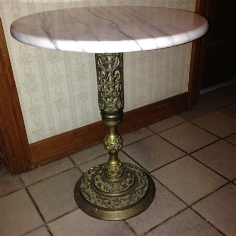 round marble table base sold vintage round marble top table with ornate brass